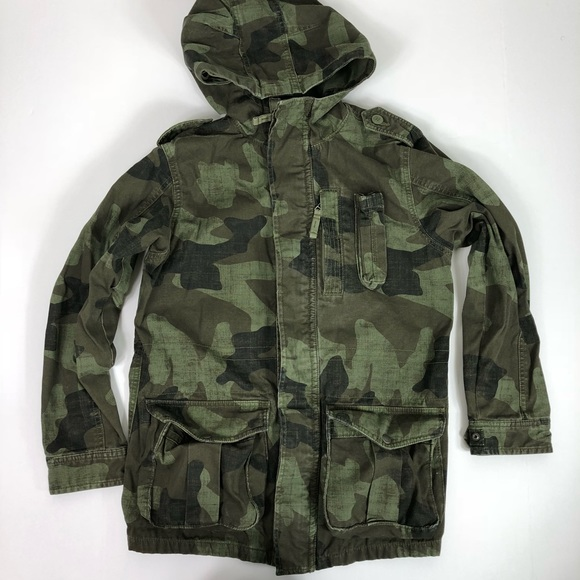 0fca5e657e6 GAP Other - Gap Kids Camo Camouflage Hooded Anorak Jacket XL